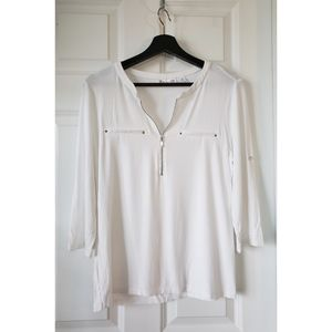 New York & Company White Blouse, M